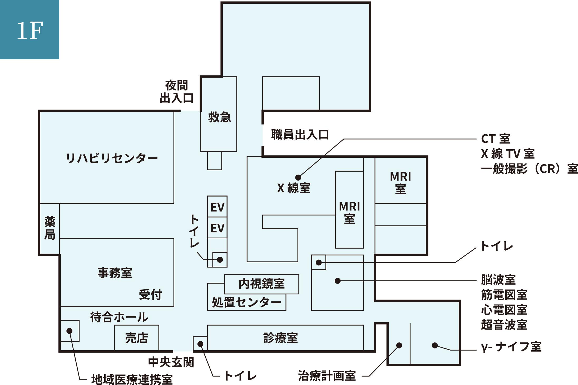 各階案内図 1F